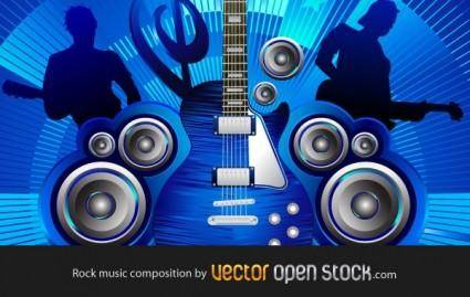 free vector Rock music composition
