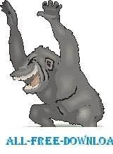 free vector Gorilla Angry
