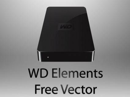 free vector WD Elements hdd