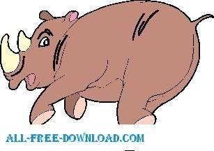 Rhino Running 1