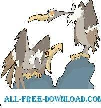 free vector Vultures