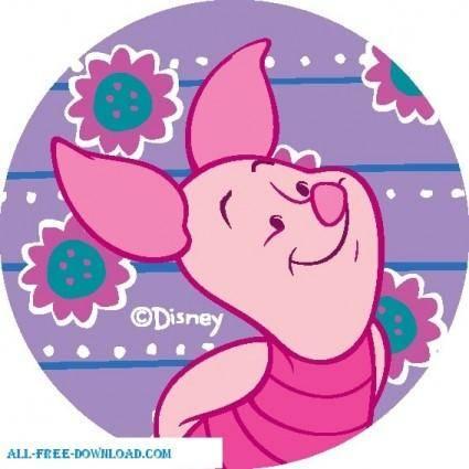 free vector Winnie the Pooh Piglet 003