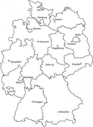 free vector Deutschlandkarte - Germany Map Vector