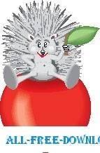 free vector Hedgehog on Apple