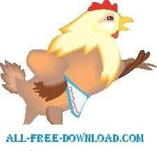 free vector Hen with Apron