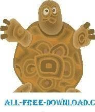 free vector Turtle Surprised