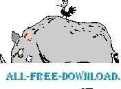 free vector Rhino and Bird