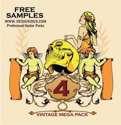 free vector Vintage Mega Pack 4 free samples