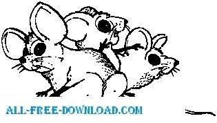 free vector Mice