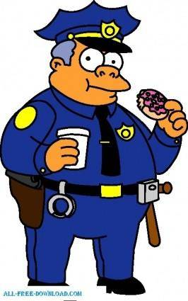 free vector Chief Clancy Wiggum 01 The Simpsons