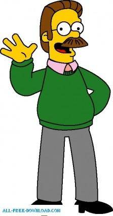free vector Ned Flanders 01 The Simpsons