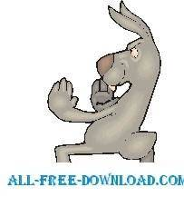 free vector Rabbit Martial Arts 1