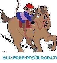free vector Monkey on Horseback