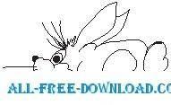 free vector Rabbit 08