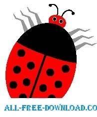 free vector Ladybug 14