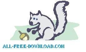 free vector Squirrel with Acorn 2