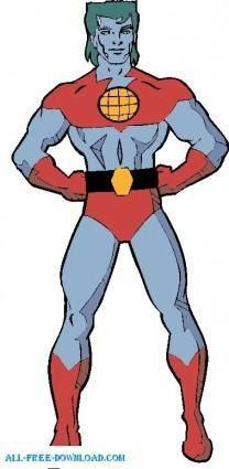 free vector Captain planet 001