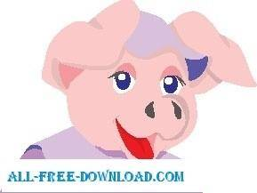 free vector Pig Smiling 2