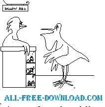 free vector Pelican Beauty Tips
