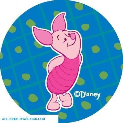 free vector Winnie the Pooh Piglet 010