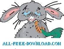 free vector Rabbit with Carrot 4