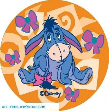 free vector Winnie the Pooh Eeyore 007