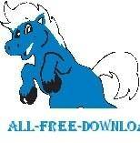 free vector Horse Blue