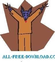 free vector Rat Cheering