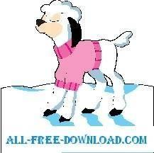 free vector Lamb Wearing Sweater