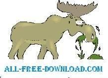 free vector Moose Eating 2