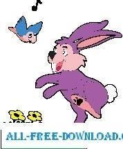 free vector Rabbit and Bluebird