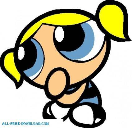 free vector Bubbles 008 Powerpuff Girls