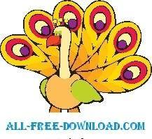 free vector Peacock 1