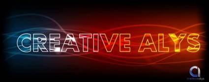free vector Glowing Light Text Vector Effect