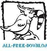 free vector Toucan Sad