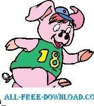 Pig Running