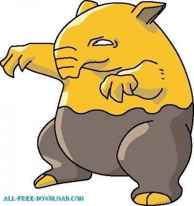 free vector Pokemon 096