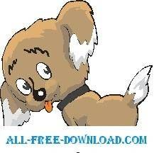 free vector Puppy Rear View