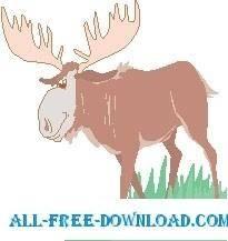 free vector Moose Walking