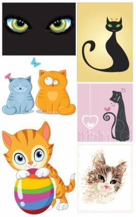 Cat theme vector