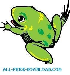 free vector Frog 13