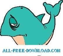 free vector Whale Sad