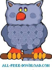 free vector Owl 23