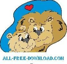 free vector Lions in Love