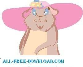 free vector Otter with Hat
