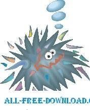 free vector Sea Urchin