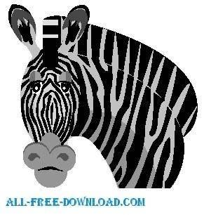 free vector Zebra 01