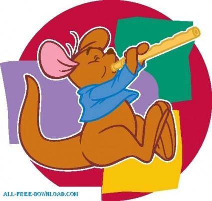 free vector Winnie the Pooh Roo 002