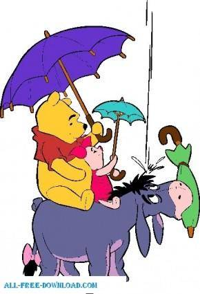 free vector Winnie the Pooh Pooh 004