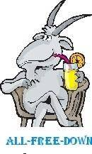 free vector Goat Drinking Lemonade